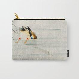 Mallard Duck Diving under water - Vintage Japanese Woodblock Print Art Carry-All Pouch