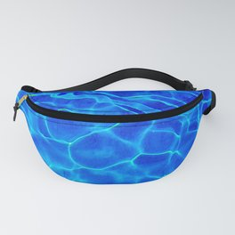 Blue Water Abstract Fanny Pack