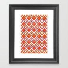 Macrame Red Framed Art Print