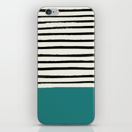 Teal x Stripes iPhone Skin
