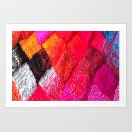 Red Entrelac Art Print