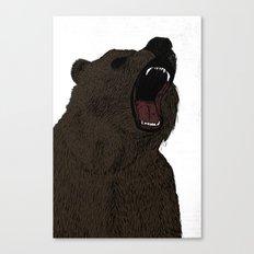 Hear my scream - Bear Canvas Print
