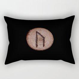 Uruz Elder Futhark Rune determination, persistence, freedom, courage, will, territoriality Rectangular Pillow