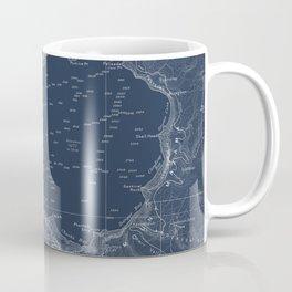 Blueprint coffee mugs society6 crater lake blueprint map design coffee mug malvernweather Choice Image