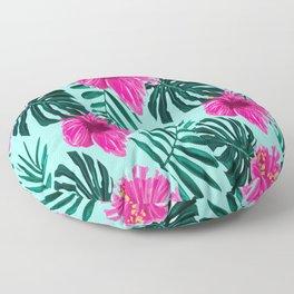 Hibiscus Print Flower Pattern Gift for Girls Floor Pillow
