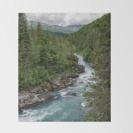 Alaska River Canyon - II Throw Blanket