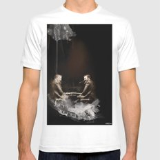 duo gualaZZi MEDIUM White Mens Fitted Tee