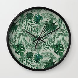 Jungle Leaves pattern Wall Clock