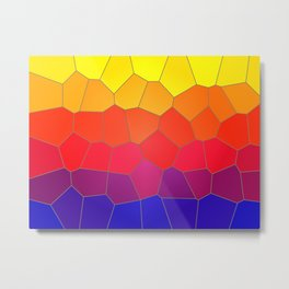 Coloured Mosaic Metal Print