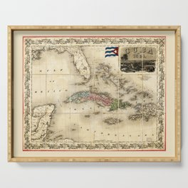 Map of Cuba by J.H. Colton (1851) Serving Tray