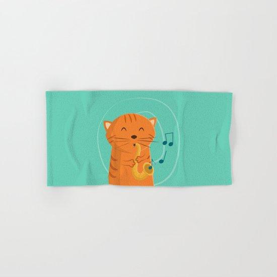 Jazz Cat Hand & Bath Towel