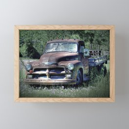 Vintage Truck Framed Mini Art Print