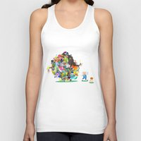 katamari Tank Tops featuring Adventure Time - Land of Ooo Katamari by Sin nombre