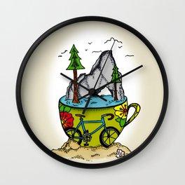 Nature's Coffee Wall Clock