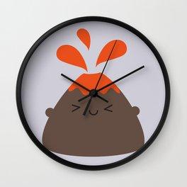 Happy Kawaii Volcano Wall Clock