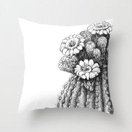 Saquaro Blooms Throw Pillow