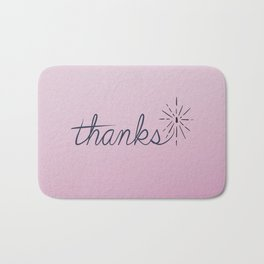 thanks* [pink] Bath Mat