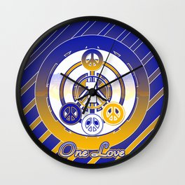 One Love (Blue) Wall Clock