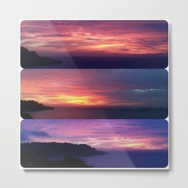 A Seacliff Sunset Metal Print