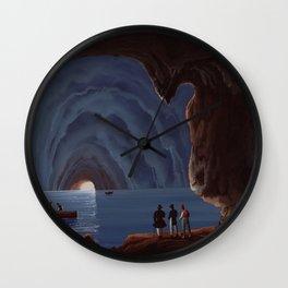 Grotta Azzurra - The Blue Grotto Capri Italia Wall Clock