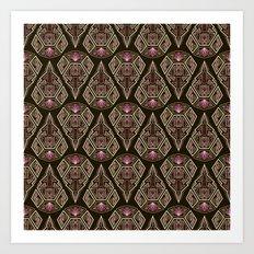 Seamless beautiful antique art deco pattern ornament. Geometric background design, repeating Art Print