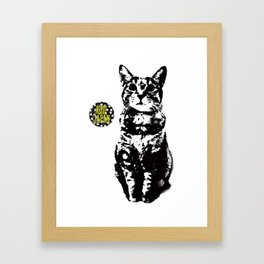 the cat! Framed Art Print