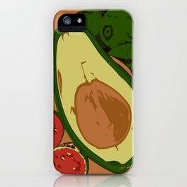 Avocado and guavas iPhone Case