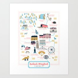 Frederick, Maryland Art Print