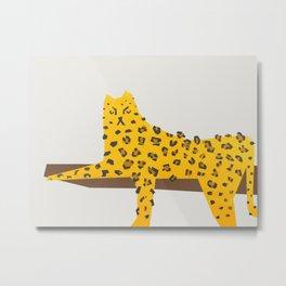 Leopard Lazy Metal Print