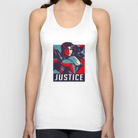 justice Tank Tops featuring Justice by Astrobunny
