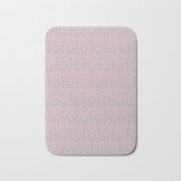 Nouveau Lines (Grey & Pink) Bath Mat