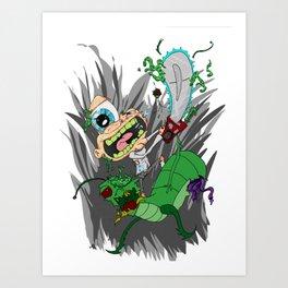 Chainsaw Jack Attack Art Print