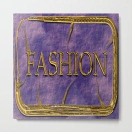Fashion logo in golden look. Metal Print