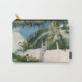 Winslow Homer - A Garden in Nassau,1885 Carry-All Pouch