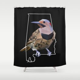 Alabama – Northern Flicker (Black) Shower Curtain