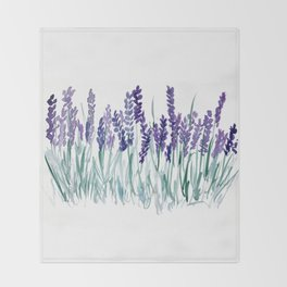 Larkspurs Throw Blanket