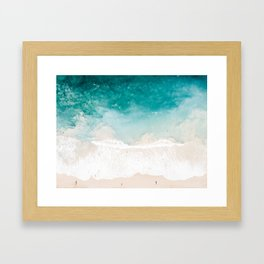 Pai'a Hawaii Beach Shot Framed Art Print