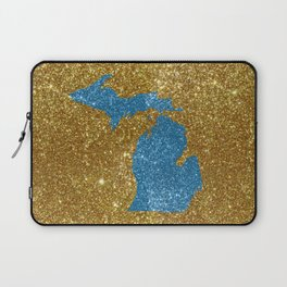 Michigan glitter Laptop Sleeve
