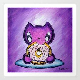 Skribbles: Because Doughnut Art Print