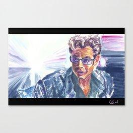 "Jurassic Park : Jeff Goldblum/Ian Malcom : ""Chaotician 2 / 4"" Canvas Print"