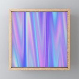 Iridescent Holographic Abstract Colorful Pattern Framed Mini Art Print