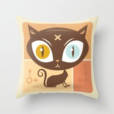 The cat did it... Throw Pillow
