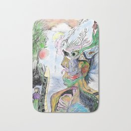 Human with animals22 Bath Mat