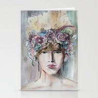 headdress Stationery Cards featuring Headdress  by Talitha Etters