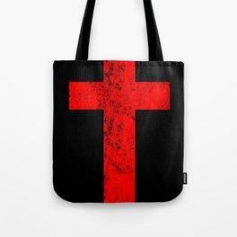 Cross (distressed red)  Tote Bag