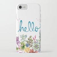 spring iPhone & iPod Cases featuring hello spring by Brooke Weeber