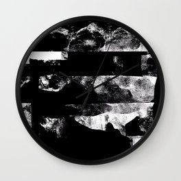 Stacked - Abstract Black and White Wall Clock