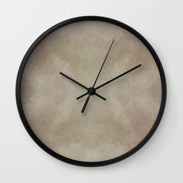 """Milk chocolate"" triangles design Wall Clock"
