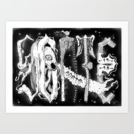 Sorte Santeria Art Print