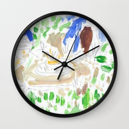 Garden Scene Wall Clock